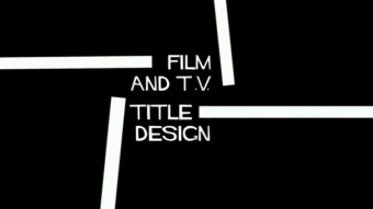 The Art of Film TV Title Design